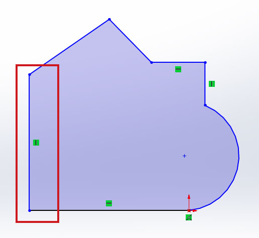 Добавление взаимосвязей в эскиз SolidWorks