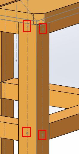 Табурет из дерева в SolidWorks