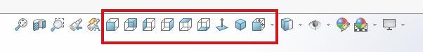 Дополнительные кнопки видов 3д модели в SolidWorks