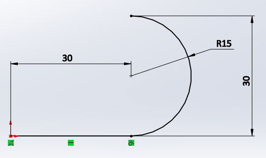 Создание эскиза в SolidWorks №2
