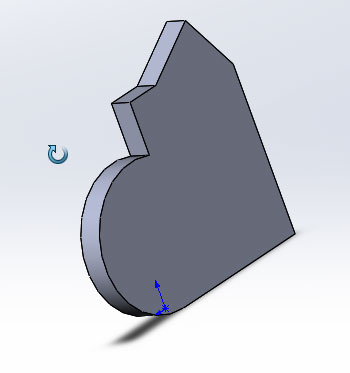 Применения инструмента вращать вид в SolidWorks