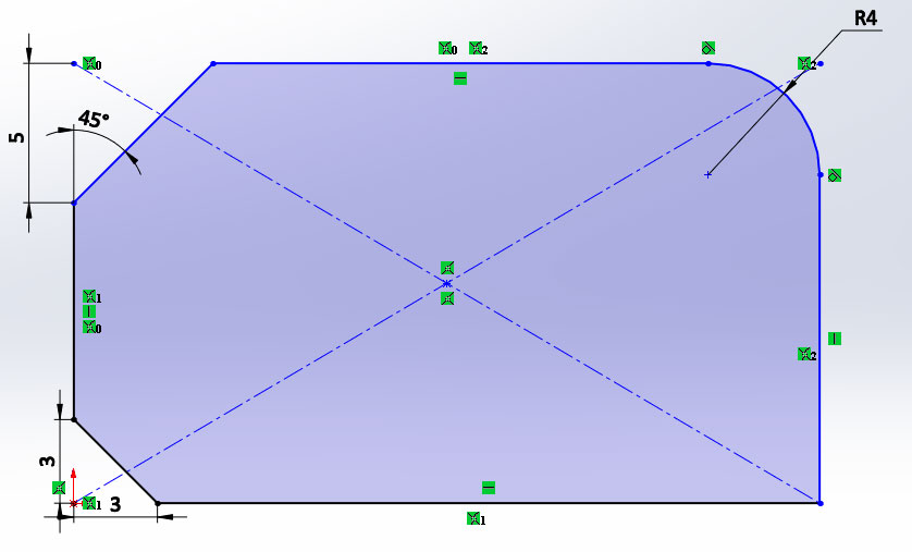 Создание эскиза в SolidWorks №3