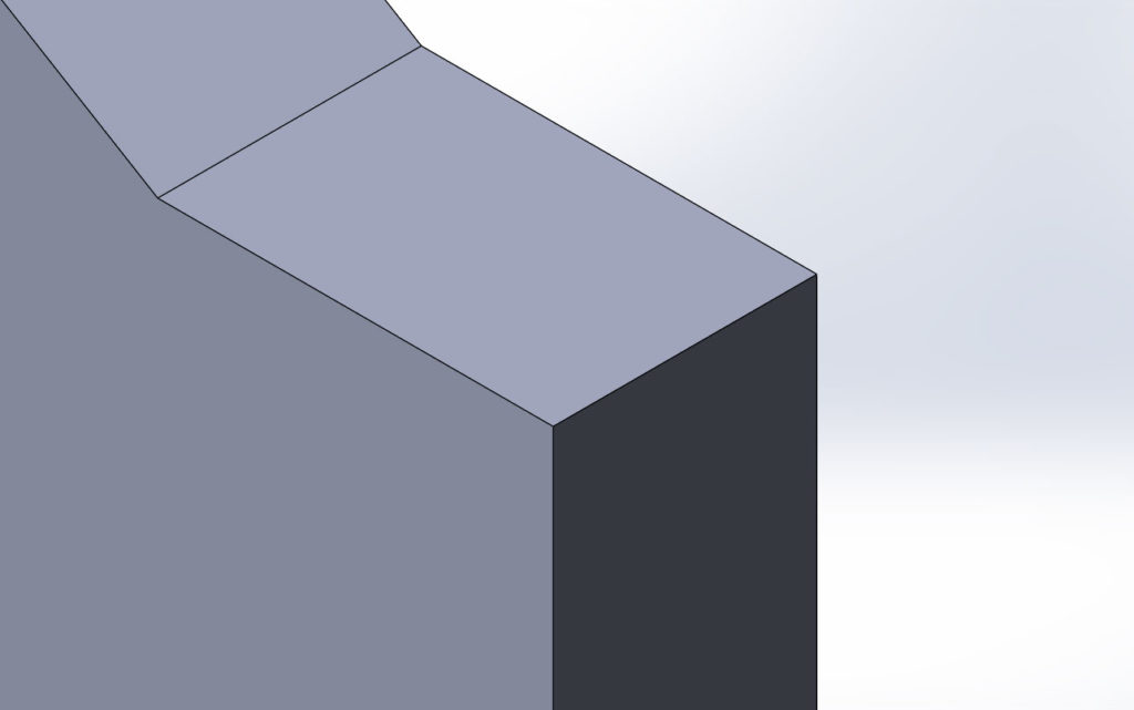 Увеличенная область элемента с помощью инструмента увеличить элемент вида в SolidWorks