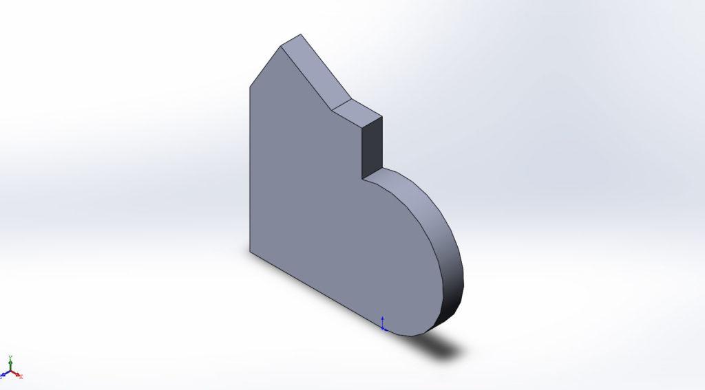 Выровненная по экрану графической области 3д модель SolidWorks