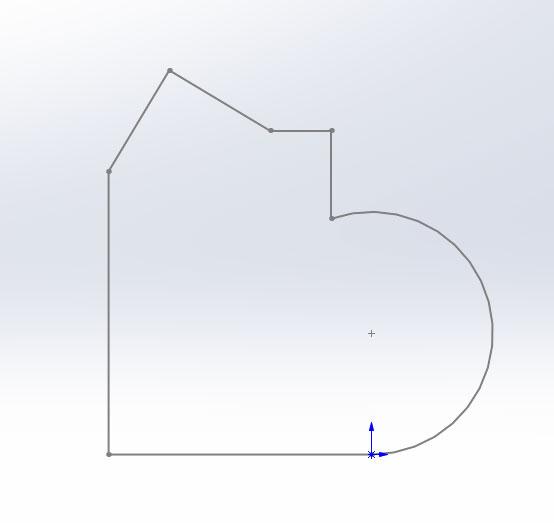Эскиз для создания 3д модели в SolidWorks