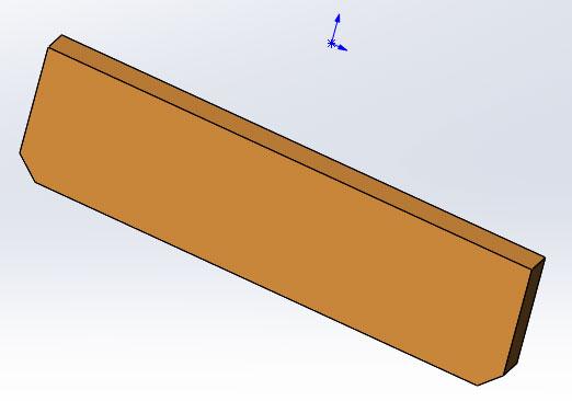Чертеж сиденья табурета в SolidWorks