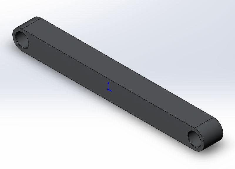 Чертеж шатуна с 3D модели в SolidWorks