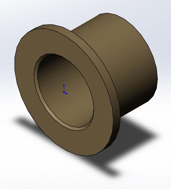 Втулка, 3D модель в SolidWorks
