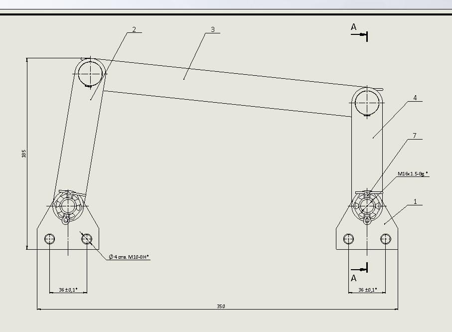 Создание наложенного вида на сборочном чертеже в SolidWorks