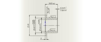 Чертеж-втулки-с-3D-модели-в-SolidWorks
