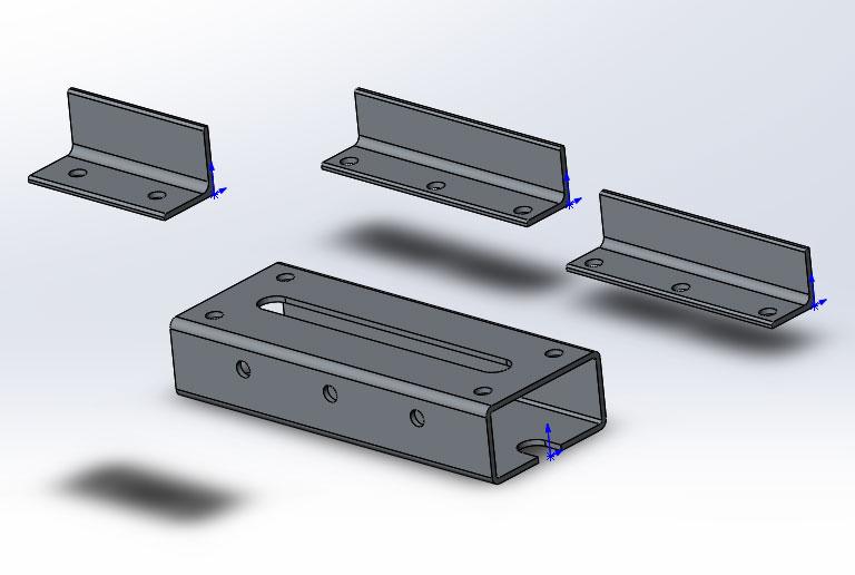 Мини тиски из металлопрофиля в SolidWorks