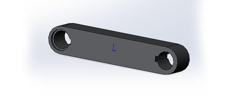 Кривошип-и-коромысло,-3D-модель-в-SolidWorks