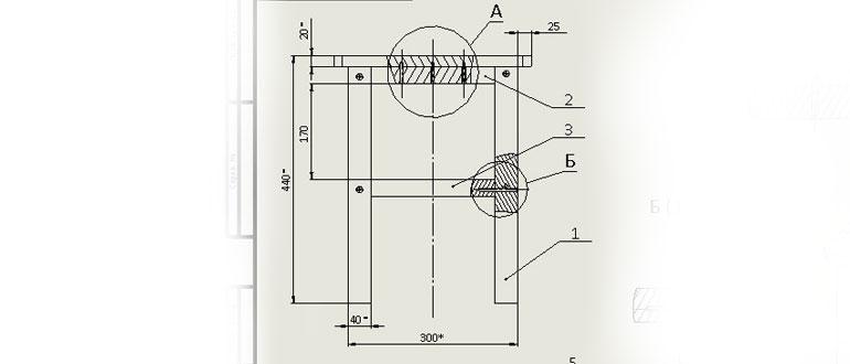 Сборочный-чертеж-табурета-из-дерева-в-SolidWorks