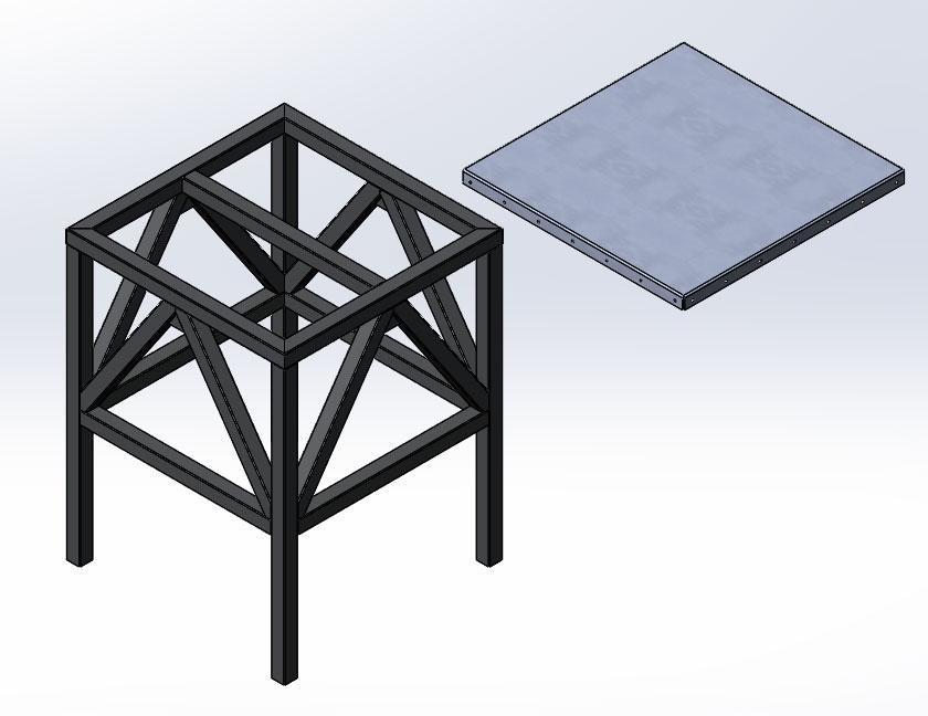 Сборка табурета из металла в SolidWorks