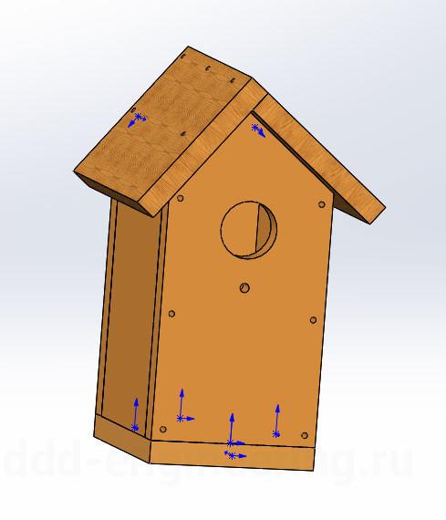 Сборка скворечника в SolidWorks