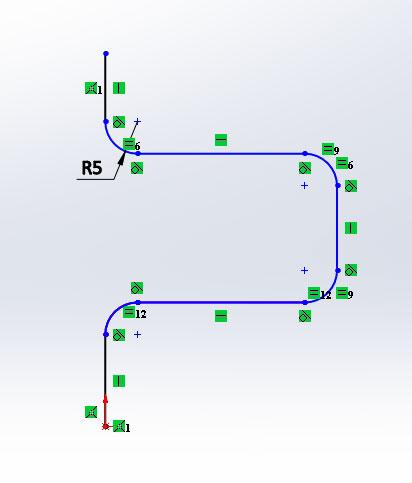 3D модель в SolidWorks, Бобышка по траектории и Вырез по траектории