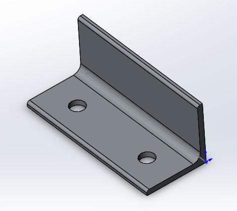 Губка неподвижная из уголка ГОСТ 8509-86 в SolidWorks