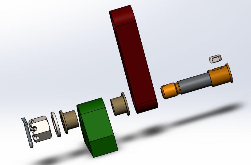 Вид с разнесенными частями в сборке SolidWorks