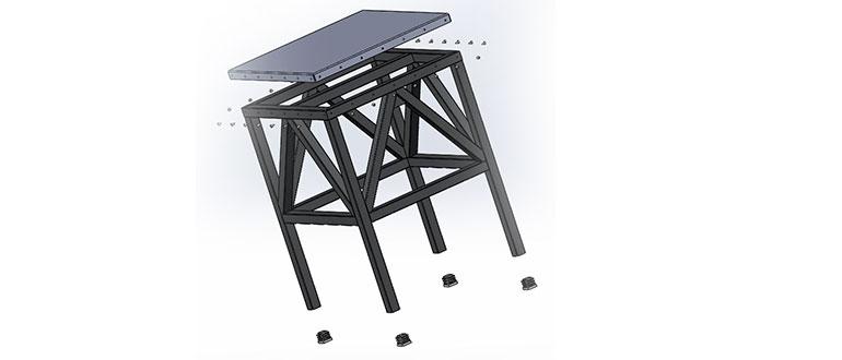 Вид-сборки-табурета-с-разнесенными-частями-в-SolidWorks