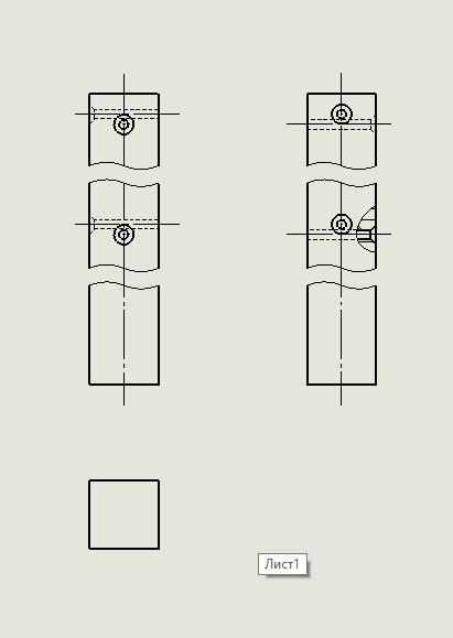 Чертеж ножки табурета в SolidWorks