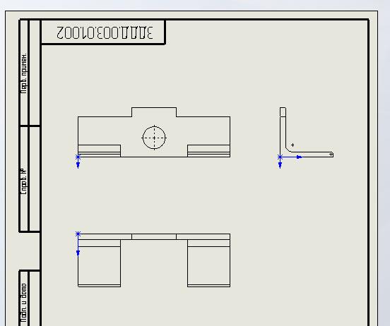 Чертежи деталей губки подвижной по ГОСТ в SolidWorks