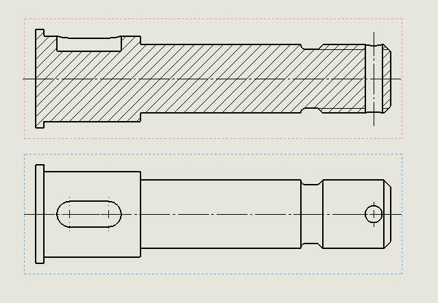 Чертеж оси с 3D модели в SolidWorks