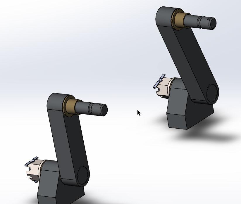Продолжаем сборку кривошипно-коромыслового механизма в SolidWorks.