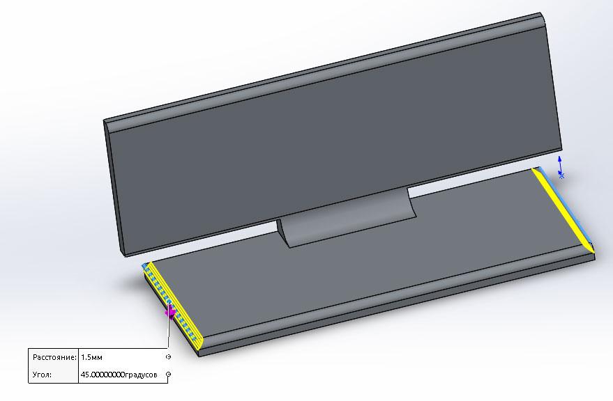 Губка подвижная из металлопрофиля по ГОСТ в SolidWorks