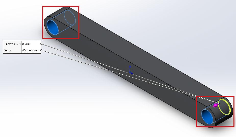 Шатун, 3D модель в SolidWorks