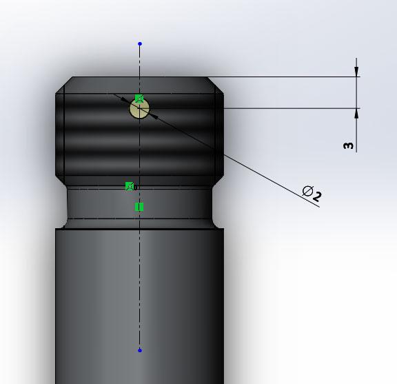 Ось, 3D модель в SolidWorks