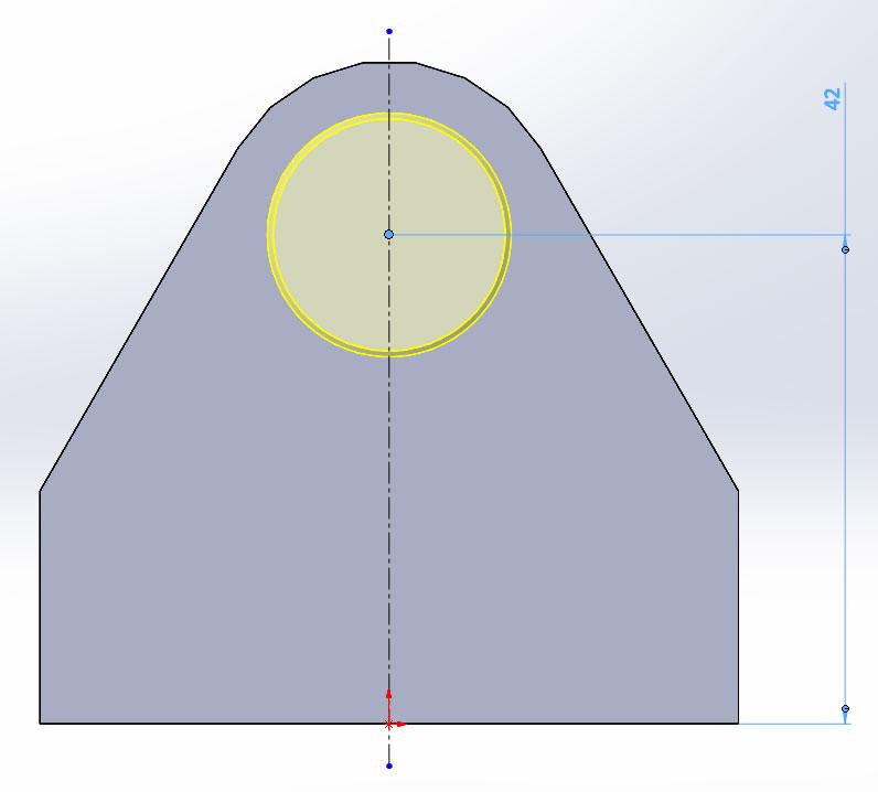Опора, 3D модель в SolidWorks