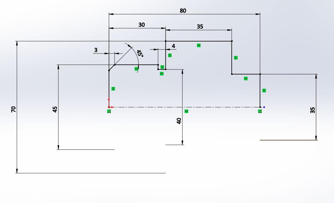 3D модель в SolidWorks, Повернутая бобышка и Повернутый вырез