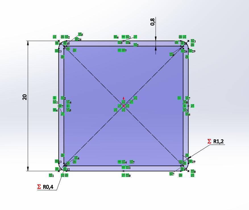 Добавление в SolidWorks трубы квадратной ГОСТ 8639-82
